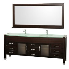 "<strong>Wyndham Collection</strong> Daytona 77.8"" Double Bathroom Vanity Set"