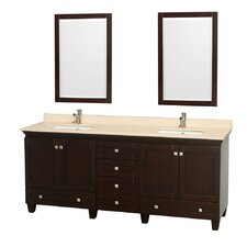 "Acclaim 80"" Double Bathroom Vanity Set"
