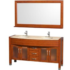 "<strong>Wyndham Collection</strong> Daytona 60"" Double Vanity Set"