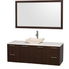 "<strong>Wyndham Collection</strong> Amare 60"" Single Bathroom Vanity Set"
