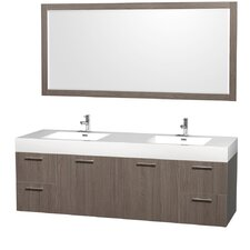 "Amare 72"" Vanity Set with Double Sink"