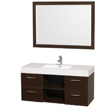 "<strong>Wyndham Collection</strong> Stephanie 48"" Single Wall Mounted Vanity Set"