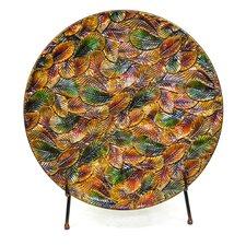 Fall Leaf Foliage Charger with Stand