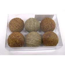 Wrapped Sea Grass Decorative Ball (Set of 6)