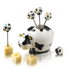 4 Piece Cow Party Pick Set
