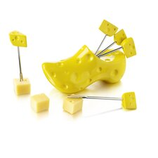 4 Piece Shoe Wooden Party Pick Set