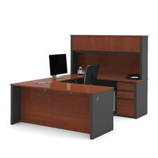 Prestige + U-Shape Desk Office Suite with Hutch