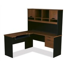 Innova L-Shape Computer Desk with Hutch
