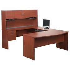 ndra,Harmony U-Shape Executive Workstation with Storage Drawers