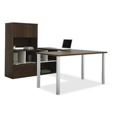 <strong>Bestar</strong> Contempo U-Shaped Desk with Storage Hutch