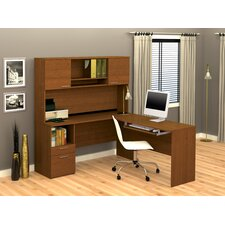 Flame L-Shape Executive Desk Office Suite