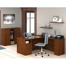 Mason Corner Desk with Storage Cabinet