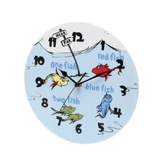 "Dr. Seuss 1 Fish 2 Fish 11"" Wall Clock"