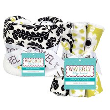 Waverly Rise and Shine Bouquet Hooded Towel and Wash Cloth Set