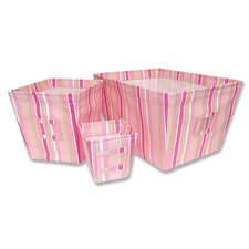 <strong>Trend Lab</strong> Paisley Park Fabric Storage Bins in Stripes