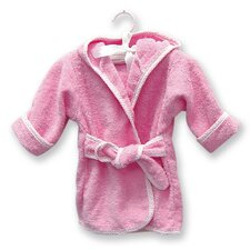Infant Terry Velour Bath Robe in Pink