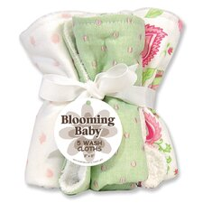 Paisley Five Piece Terry Wash Cloth Set