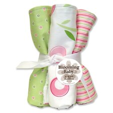 <strong>Trend Lab</strong> Tulip Four Piece Terry Burp Cloth Set