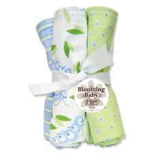 Caterpillar Four Piece Terry Burp Cloth Set