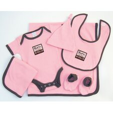 Good Fortune Six Piece Born to Be Spoiled Newborn Gift Set
