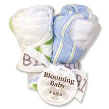 Caterpillar Blooming Bouquet 4 Pack Bib Set