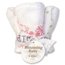 Hula Baby Blooming Bouquet 4 Pack Bib Set