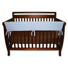 "<strong>Trend Lab</strong> 51"" Blue Fleece Front Crib Rail Cover"