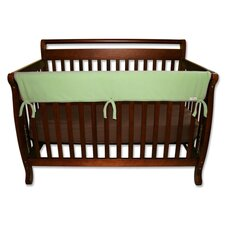 "<strong>Trend Lab</strong> 51"" Sage Fleece Front Crib Rail Cover"