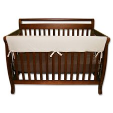 "<strong>Trend Lab</strong> 51"" Natural Fleece Front Crib Rail Cover"