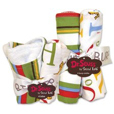 <strong>Trend Lab</strong> Dr Seuss ABC Bib and Burp Cloth Set