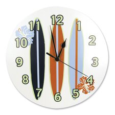 "11"" Surf's Up Wall Clock"