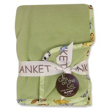 Chibi Zoo Sage Fleece Receiving Blanket