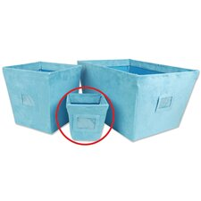 Groovy Love Small Fabric Storage Bin in Turquoise