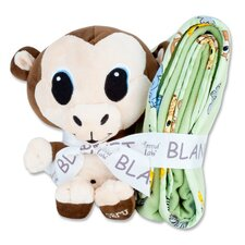 Chibi Blanket and Monkey Buddy Gift Set