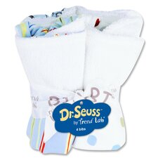 <strong>Trend Lab</strong> Dr. Seuss Bouquet 4 Pack Bib