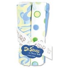 <strong>Trend Lab</strong> Dr. Seuss Oh The Places You''ll Go Burp Cloth Bouquet (Set of 4)