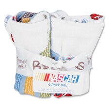 <strong>Trend Lab</strong> NASCAR Bouquet Bib (4 Packs)