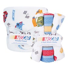 NASCAR Hooded Towel and Wash Cloth Bouquet Set