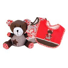 Chocolate Kiss Bib and Buddy Set