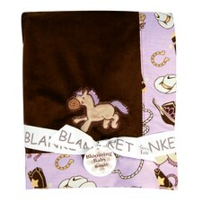Framed Rodeo Princess Receiving Blanket