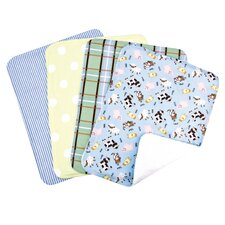 <strong>Trend Lab</strong> Baby Barnyard Bouquet Burp Cloth (Set of 4)