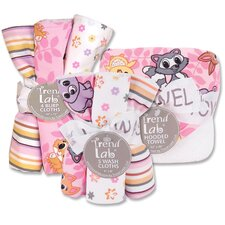 Lola Fox Bouquet Bath and Burp Cloth Set
