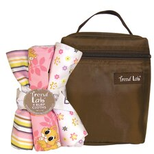 <strong>Trend Lab</strong> Lola Fox Bouquet Bath and Burp Cloth Set