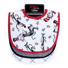 <strong>Trend Lab</strong> Dr. Seuss Cat in the Hat Bib (Set of 3)