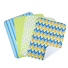<strong>Trend Lab</strong> Levi Bouquet Burp Cloth (Set of 4)