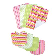 <strong>Trend Lab</strong> Savannah Bouquet Bib and Burp Cloth Set