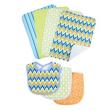 <strong>Trend Lab</strong> Levi Bouquet Bib and Burp Cloth Set