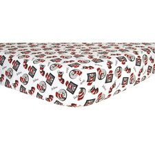 <strong>Trend Lab</strong> Dr. Seuss Cat In The Hat Flannel Crib Sheet