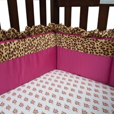 Berry Leopard 4 Piece Crib Bumper Set