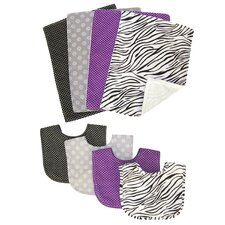 <strong>Trend Lab</strong> Grape Expectations 8 Piece Bib and Burp Cloth